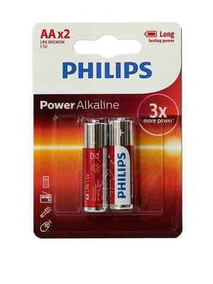 باتری قلمی فیلیپس مدل Power Alkaline بسته 2 عددی