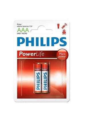 باتری نیم قلمی فیلیپس مدل Power Alkaline بسته 2 عددی
