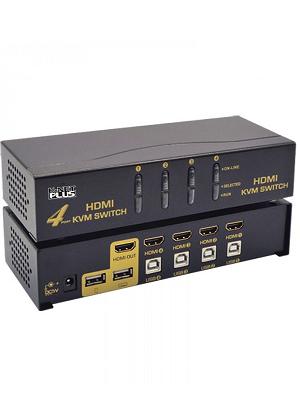 کی وی ام سوئیچ 4 پورت HDMI اتوماتیک کی نت پلاس